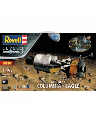 Apollo 11 Columbia & Eagle scala 1/96